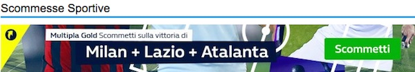Banner della Multipla Gold William Hill per la 1° giornata di Europa League 2016/2017